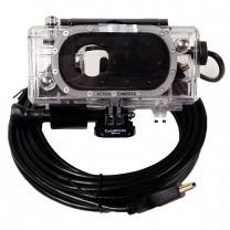 Live Feed 25' Underwater HDMI Housing Dive Case GoPro HERO5 HERO6 HERO7
