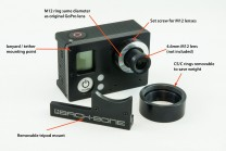 GoPro 3+ Plus Black with Ribcage Back-Bone Mod Installed